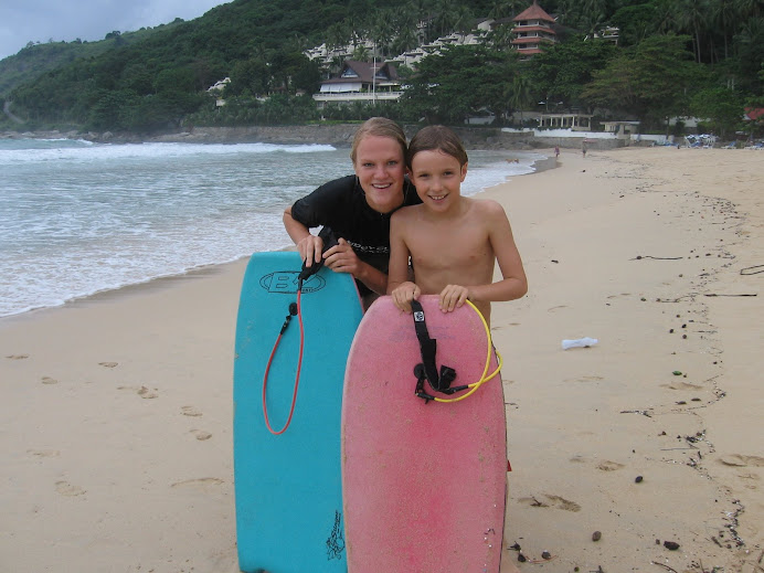 Me and Tristan boogie boarding
