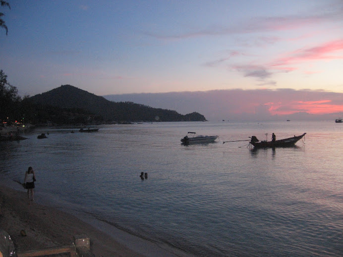 The sunsets at Koh Tao are amazing