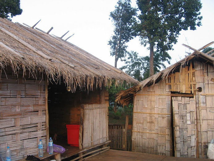 This is the little hut we slept in at the village