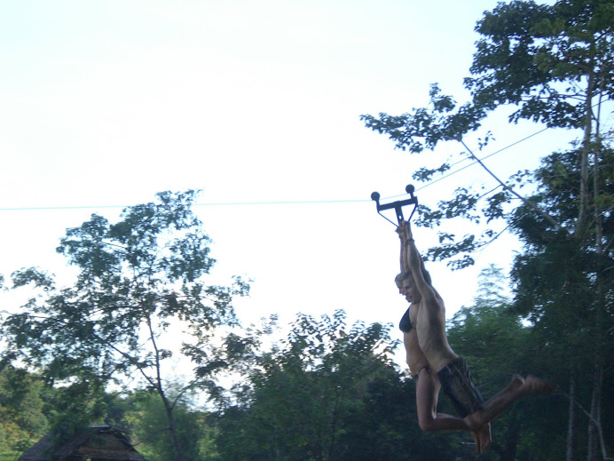 One of the many zip lines