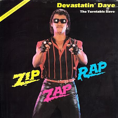 funny disco album cover devastatin dave turntable slave picture