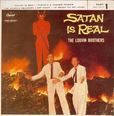 funny worst album covers satan is real by louvin brothers really weird they look happy to be in hell