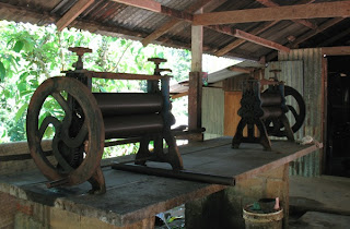 Rubber Press in rubber workers house