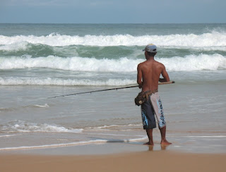Local fisherman on Karon beach, 21st June