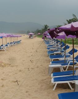Hazy skies over Karon Beach