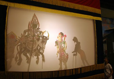 Shadow puppet display at the mining museum
