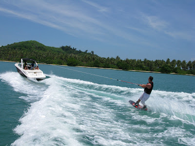 Wakeboarding at Koh Rang Yai, photo by Helicam Asia