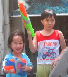 Kids fun on Songkran