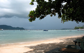 Dark clouds approaching Chalong Bay
