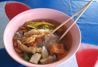 Vegetarian Noodle Soup (Yentafo Jae)