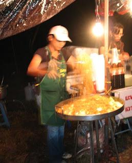 Noodle Stall at Bang Wad Reservoir for Loy Krathong