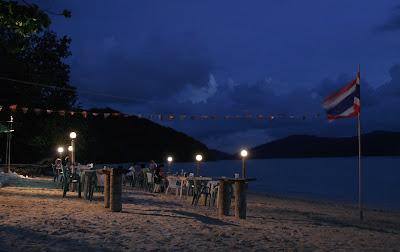 Evening at The Beach Bar, Cape Panwa