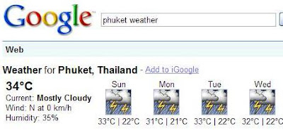 Google Phuket Weather Forecast