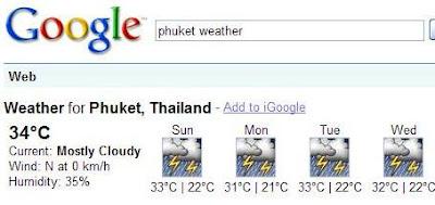 Google Phuket Weather Forecast