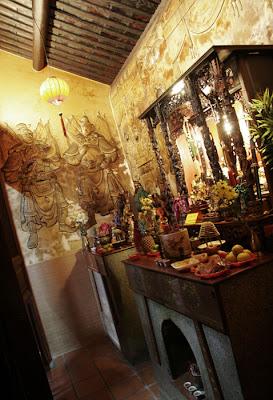Altar at the Shrine of the Serene Light in Phuket Town