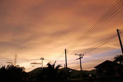 Sky over Phuket, 17th August