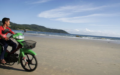 Kid on moped, Kata Beach, 28th July