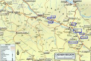 Viaje en moto a Ladakh Ladakh-map