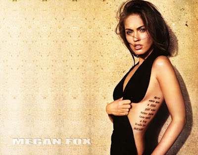 megan fox side tattoo. Megan Fox on Cover of Empire Mag Sporting a new