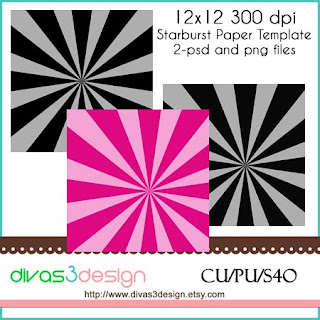 starburst paper template