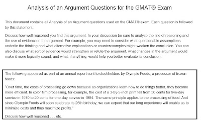 GMAT Analysis of Argument