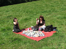 Picnic in 'Cowpat field.
