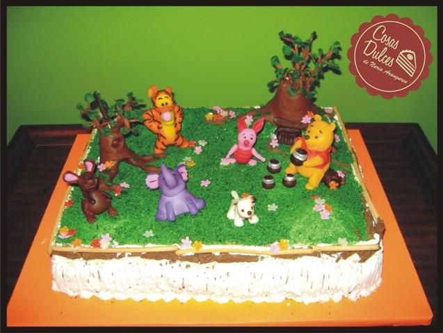 COSAS DULCES: Torta de winnie Pooh