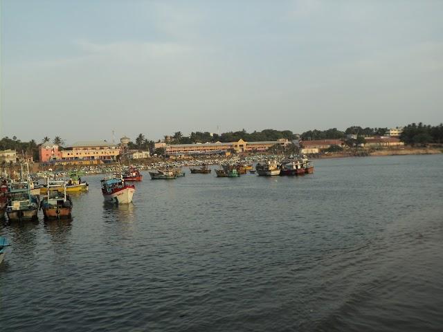 Hambantota fisher harbor -In the morning