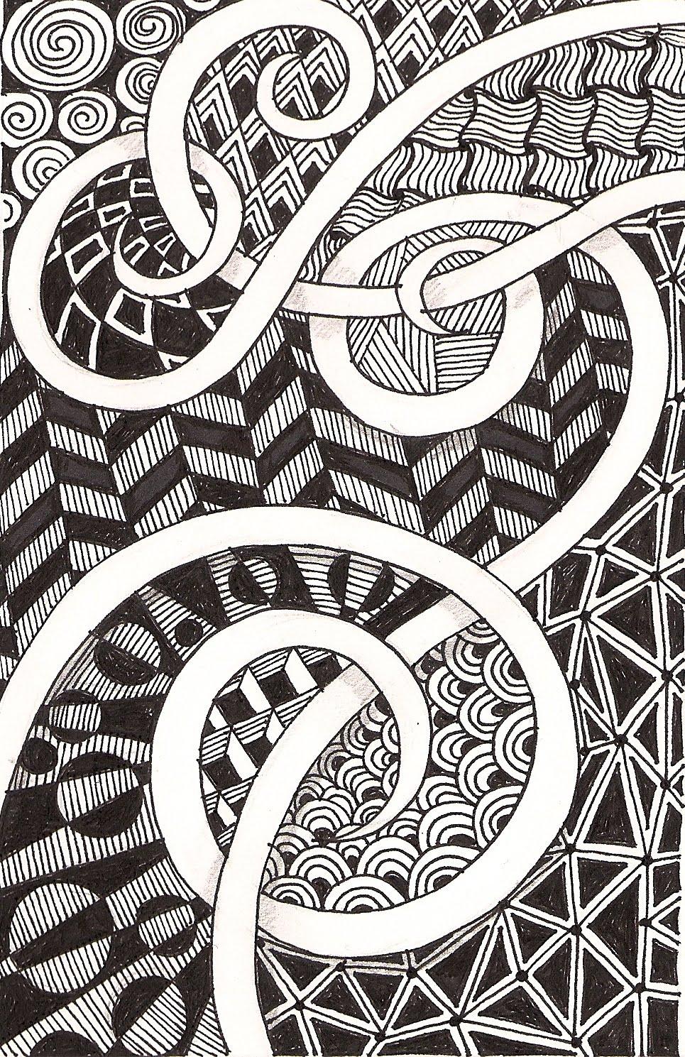 Banar designs more zentangles - Doodle dessin ...