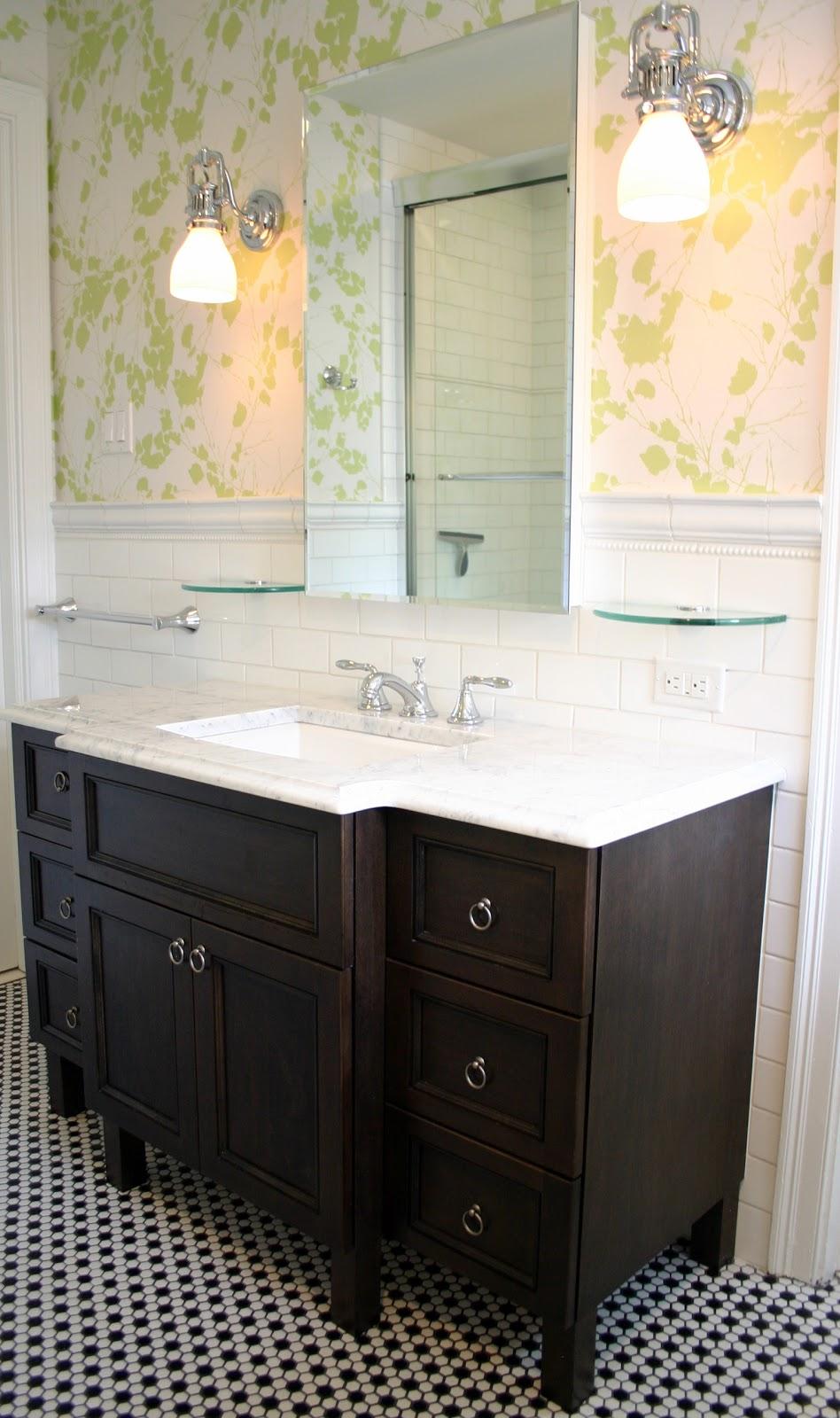 A timeless childs bath design manifestdesign manifest for Dark vanity bathroom