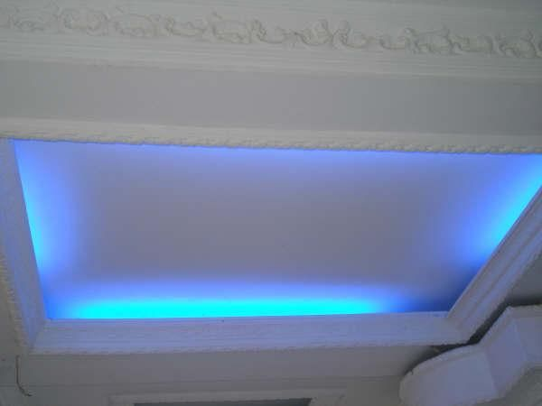 Techo Drywall Con Corniza Luces Indirectas