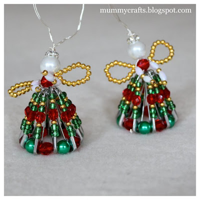 Christmas beaded angels