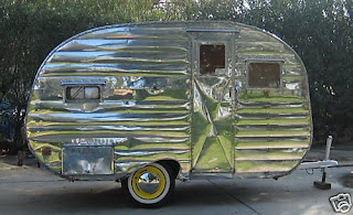 vintage travel trailer on
