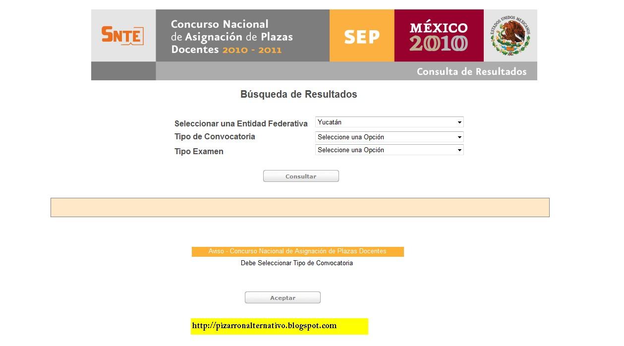 Pizarr n alternativo resultados del concurso nacional de for Concurso de plazas docentes 2016