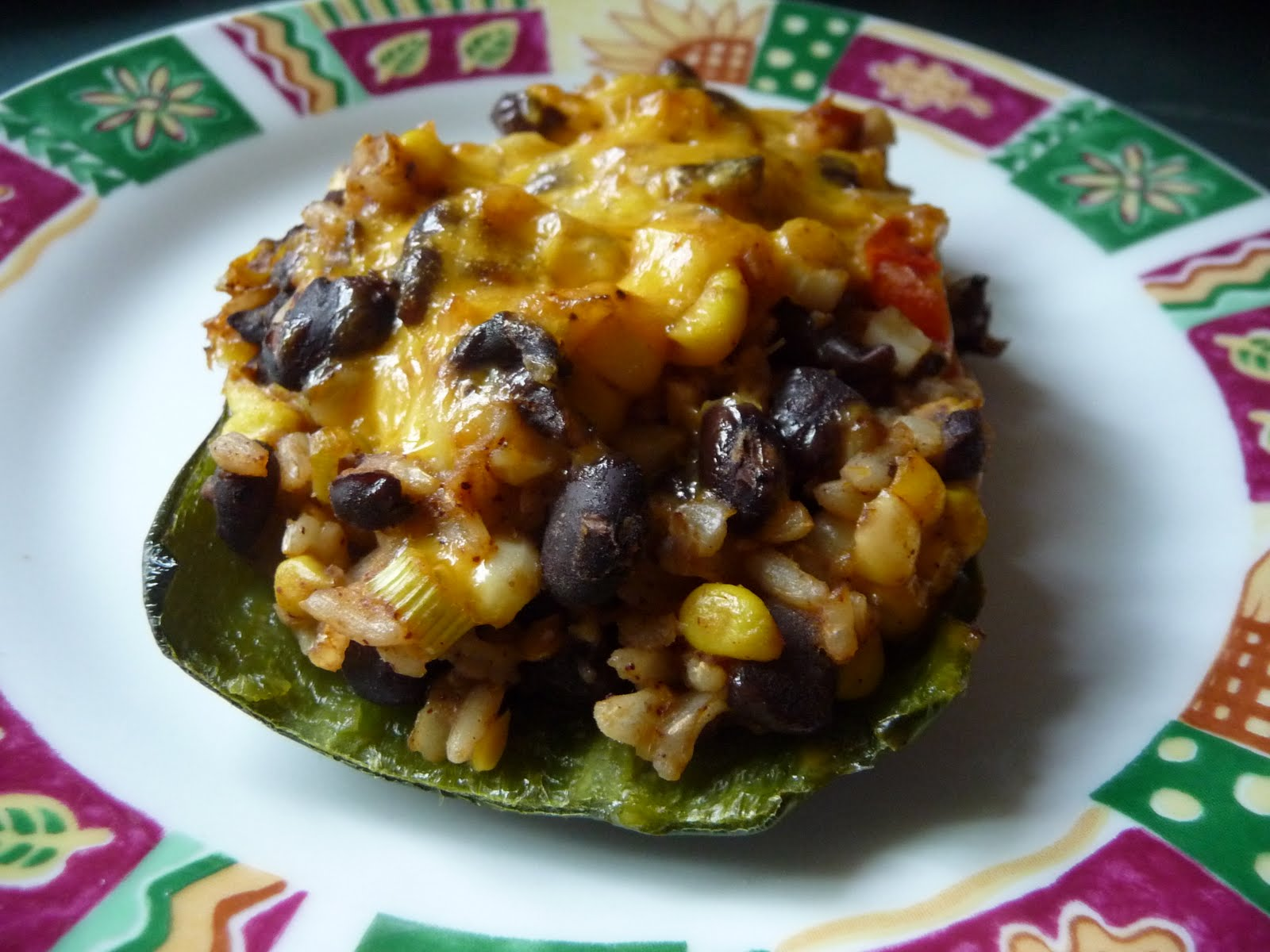 Mexican Poblano Stuffed Peppers
