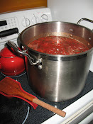 Marinara Simmering on the Stove