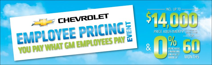 Jim Tubman Chevrolet Chevrolet Employee Pricing Event