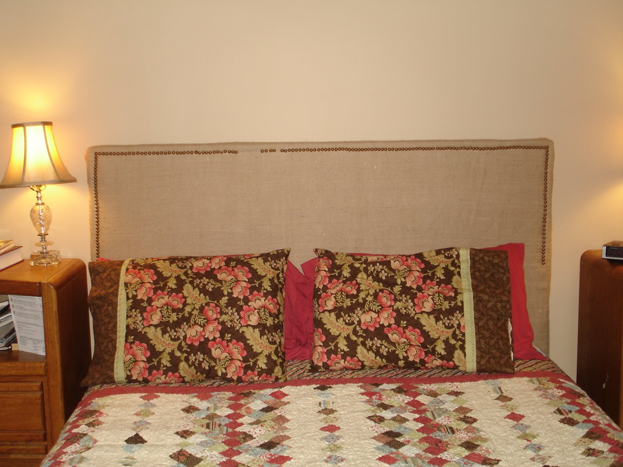easy upholstered headboard with nailhead trim