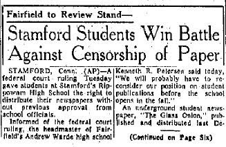 censorship of school newspapers Hazelwood school district v kuhlmeier wikipedia, hazelwood school district et al v kuhlmeier et al, 484 us 260 (1988), was a landmark decision by the supreme court of the united states that held that public school curricular student newspapers that.