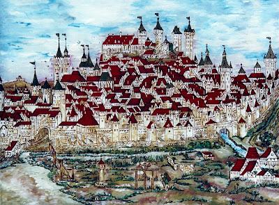Artwork by Tatiana Künstlerische Arbeit von Tatiana: Nürnberg im ...