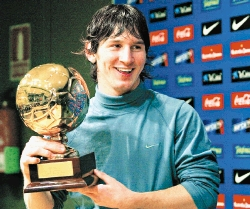 Messi was only 17 years,