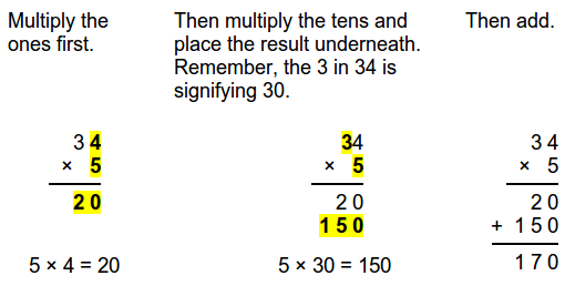math worksheet : teaching long multiplication a k a multiplying in columns  : Multiplication Algorithm Worksheets