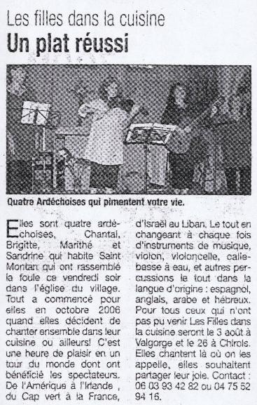 St Montan la Tribune du 26/06/08