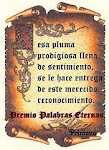 "Premio: ""Palabras Eternas"""