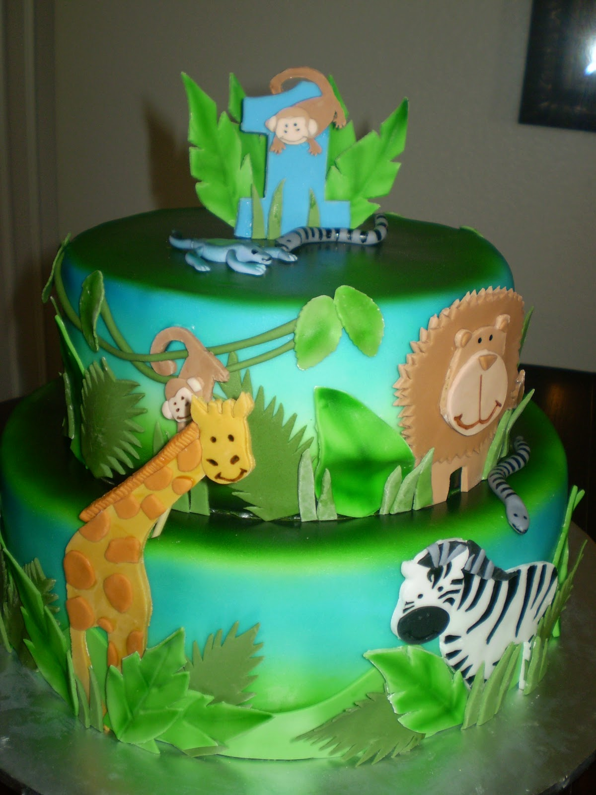 Safari and Cherry Blossom Cake