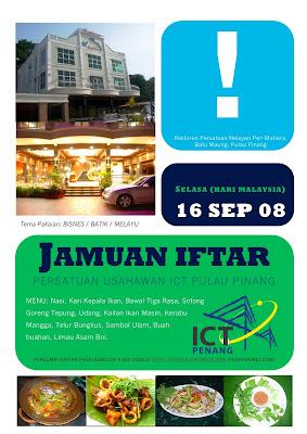 Menu Jamuan Iftar ICT Penang 1429H/2008H