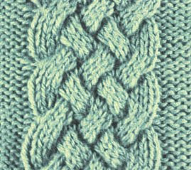 Free Knitting Stitches: Celtic Cable Pattern