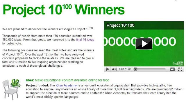 google project winners