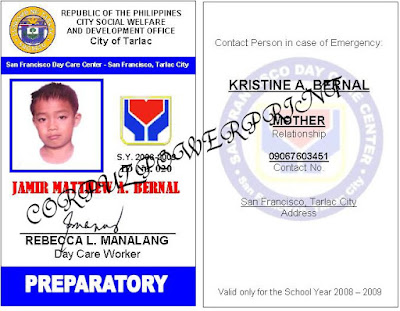 Sample ID Layout http://corpuzpowerprint.blogspot.com/2009/01/id-lay-out-designs.html