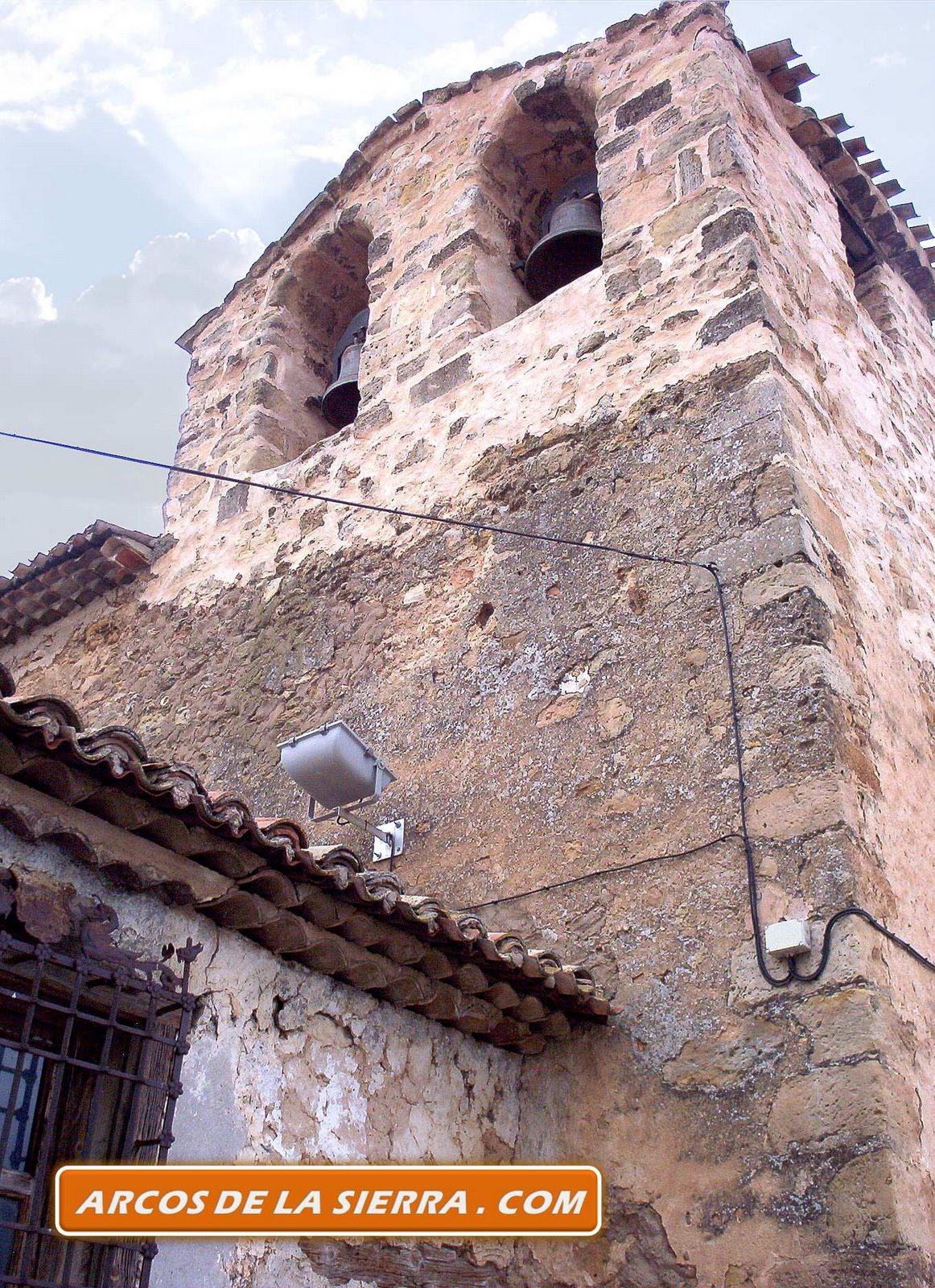 Torreón de la iglesia de Arcos de la Sierra
